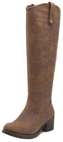 Rampage Womens Italie Riding Boot 6 Dark Brown