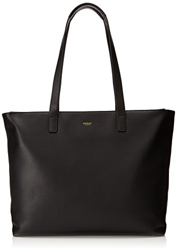 Knomo Luggage Knomo Mayfair Maddox 15-Inch Zip Tote, Black, One Size by Knomo