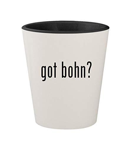 got bohn? - Ceramic White Outer & Black Inner 1.5oz Shot Glass