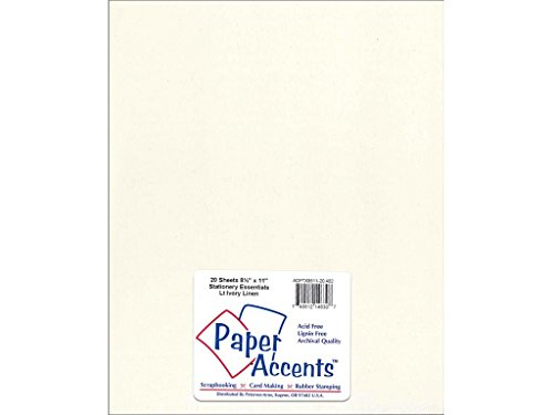 Accent Design Paper Accents Lite Stock 8.5x11 LiteStk LinenLtIvory ()