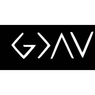 DECAL ADDICTION, INC | God Is Greater Than Highs And Lows Ups And Downs WHITE Vinyl Car/Laptop/Window/Wall Decal: Automotive