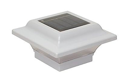 """Classy Caps SL082W Aluminum Imperial Solar Post Cap, 2.5"""" x 2.5"""", White"""