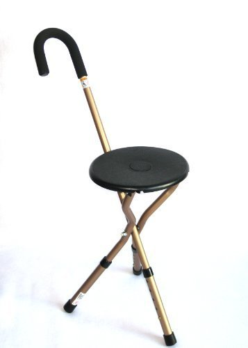 (Harvy Seat Cane with Adjustable Legs - 250lbs Weight Max. by HARVY)