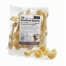 (SHARPLES Treat 'N' Chew Natural Hide Knotted)