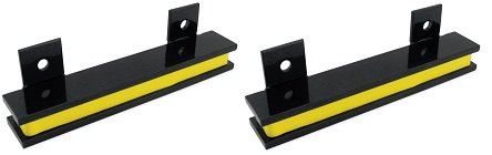 Master Magnetics AM5PLC Magnetic Tool Holder, 6'' Wide, 20 lb per inch, Black Powder Coat with Yellow Stripe (2-(Pack)) by Master Magnetics
