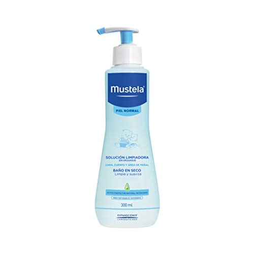 Mustela Agua Micelar sin enjuague para bebé o niño con Piel Normal a base de Ingredientes Naturales, 300ml