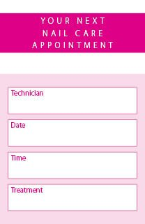 nail care appointment cards 250 per pack amazon co uk kitchen home