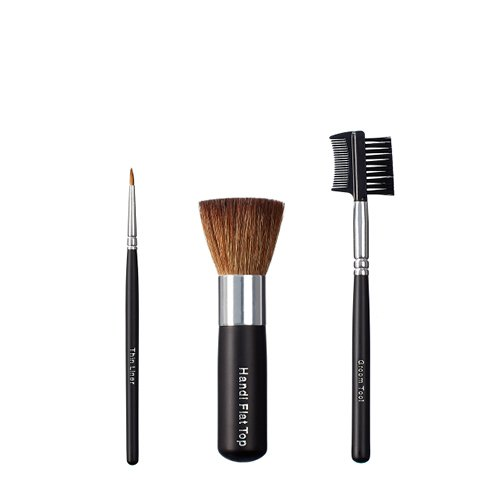 VEGAN LOVE Thin Liner Handi Flat Top Brush Trio, Groom Tool by Love To Be Vegan