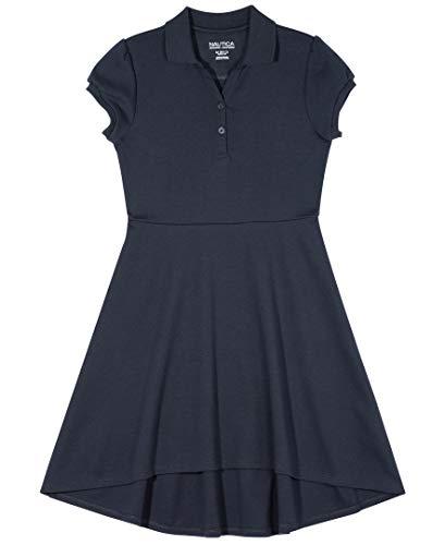 Nautica Girls' School Uniform Short Sleeve Polo Dress