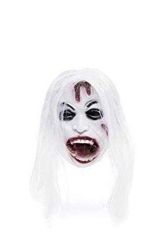 Wicked Witch Of The West Kit (Adult Halloween Horror Vampire Dracula Face Mask Scary Party Role Play With Wig (Snow-white, red-brown, black))