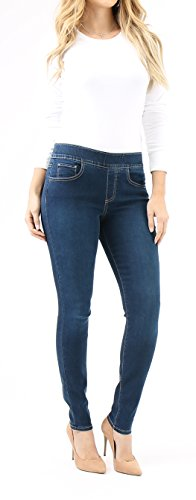 Indigo Society Women's Classic Skinny High Rise Pull on Jean