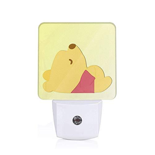 (Meirdre Plug in Night Light - Winnie The Pooh Warm White LED Nightlight with Automatic Dusk-to-Dawn Sensor)