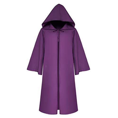 Clever Homemade Halloween Costume (Centory Unisex Women and Men Halloween Capes Hooded Cloak Velvet Capes Christmas Cosplay Costumes)