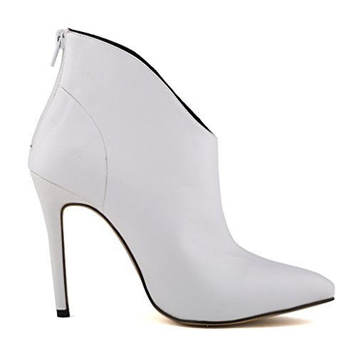 High Shoes White Women's Heels ZriEy Matt Business Leather Stiletto Party Sexy Work Casual Boots xqWpnOp