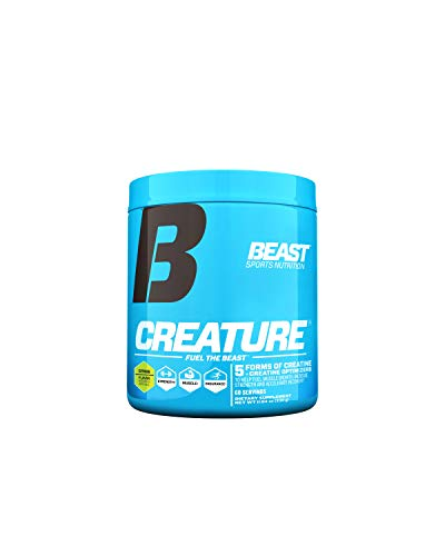 Beast Sports Nutrition - Creature Creatine Complex - Fuel Muscle Growth - Optimize Muscle Strength - Enhance Endurance - Increase Recovery Time - Five Forms of Creatine - Citrus 60 Servings