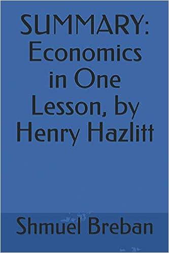economics in one lesson summary