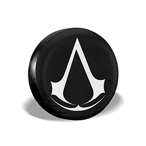 KLSOAD Tire Covers, Assassin Creed Video Game Waterproof Rear Tire Cover Dust-Proof Wheel Covers for Camper RV Scamp Trailer