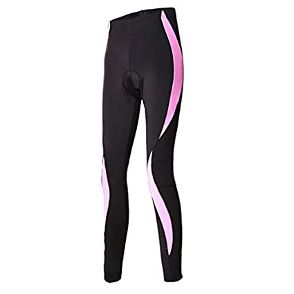 4c3a38d54b669 WEST BIKING MTB Cycling Jersey Trousers Quick-drying Silicone Cushion Tight  Riding Woman Cycling Pant Bike Padded Tight Trousers - S, Black Pink:  Amazon.in: ...