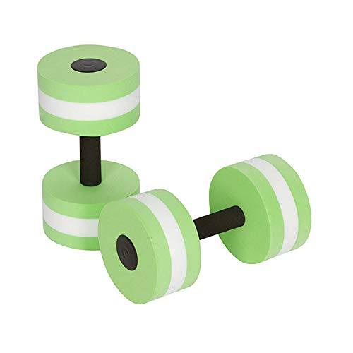 Qzc Aquatic Exercise Dumbbells, 2PCS Foam Dumbbells Fitness Barbells Exercise Hand Bars Water Aerobics Fitness Provides Resistance for Water Aerobics Fitness and Pool Exercises Aqua Dumbbell Set