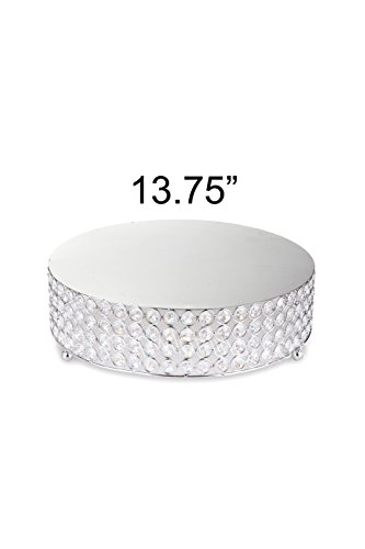LACrafts Designer Crystal Diamond Cake Stand for Weddings (13.75″)