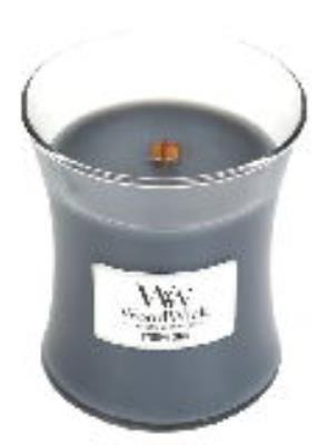 EVENING ONYX WoodWick 10 oz Medium Hourglass Jar Candle Burns 100 (Onyx Candle)
