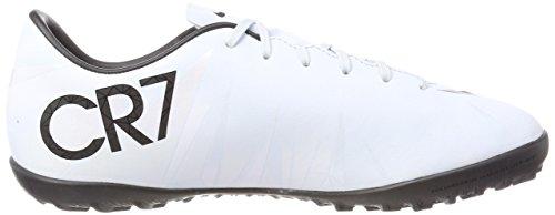 Nike Unisex-Kinder Jr MercurialX Victry 6 Cr7 TF Fußballschuhe Weiß (Teinte Bleue/blanc/teinte Bleue/noir)