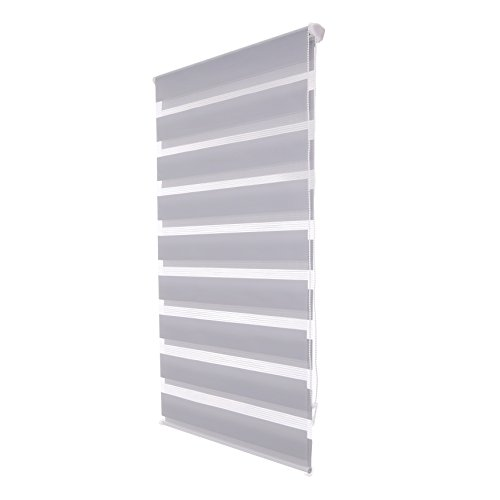 LUCKUP Horizontal Window Shade Blind Zebra Dual Roller Blinds Day and Night Blinds Curtains,Easy To Install 33.5