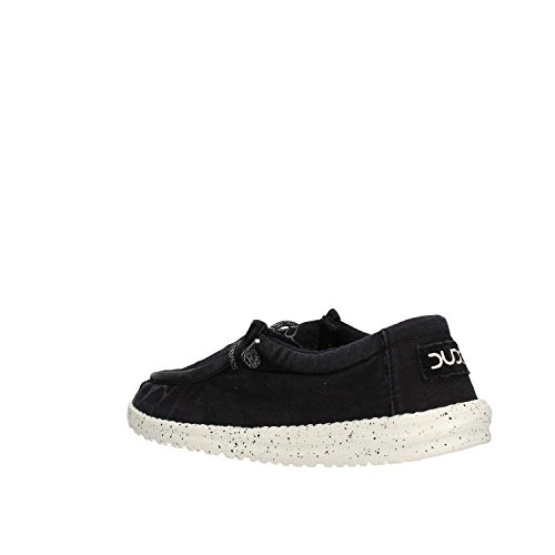 Dude Shoes Hey Men's Wally Washed Black Black
