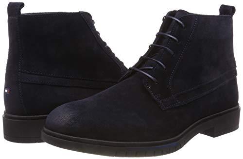 Boot Uomo Dressy Stivali Desert Hilfiger Suede Boots Blu Flexible midnight Tommy 403 qEwX1I8X