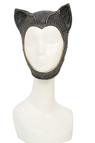 xcoser Cute Cat Mask and Ears Cosplay Helmet For Halloween (Halloween Catwoman Ears)