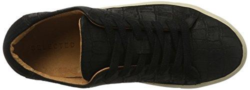 Sneakers Sfdonna Selected black Basses Suede Sneaker New Femme Multicolore w5qrgXqxP