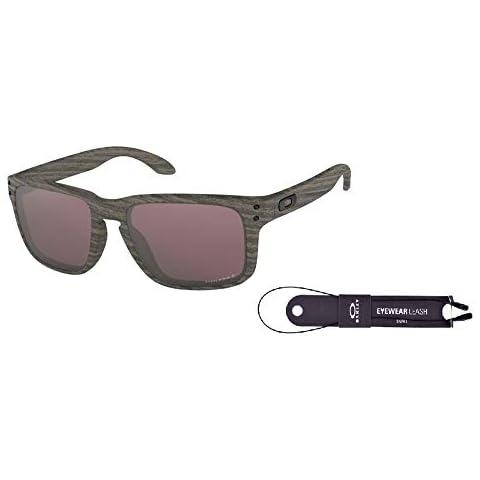 78af5b33800 Oakley Holbrook OO9102 9102B7 57M Woodgrain Prizm Daily Polarized  Sunglasses+ BUNDLE with Oakley Accessory Leash