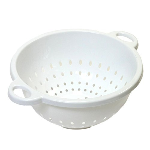 (Chef Craft 5-Quart 11 x 5 inch Deep Colander White 3-pack )