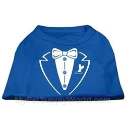 Mirage Pet Products Tuxedo Screen Print Shirt, 3X-Large, bluee by Mirage Pet Products