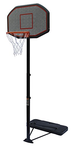 KLB Sport Pro Court Height Adjustable Portable Basketball Hoop System With 43 Inch Backboard (Basketball Hoop Sale)