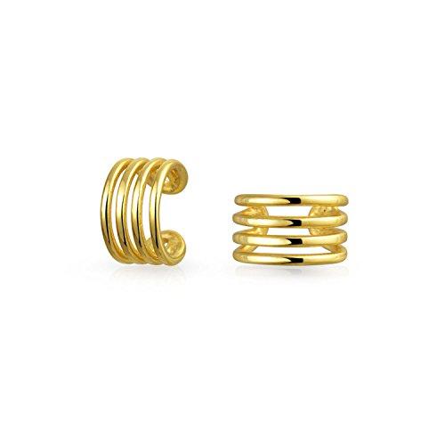 Bling Jewelry Modern Lines Geometric Sterling Silver Single Ear Cuff Cn9o7mAJYN