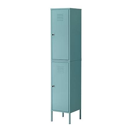 Gentil Ikea PS Cabinet Tall Locker Turquoise Green Blue Metal Locking