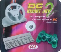 mentalKase ® Dreamcast Smart Joy 2 PSX Controller/PC Keyboard Adapter/Adaptor. Playstation PS/PSX Controller Steering Wheel & PC Keyboards on Dreamcast! 6ft DC Extension Cable. EMS Total Control 2 3