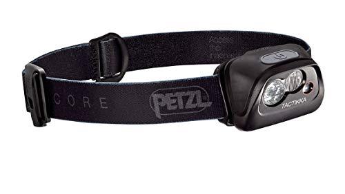 PETZL - TACTIKKA Headlamp, CORE 350 Lumens, with ACCU CORE, Black (Plus Headlamp Tactikka)