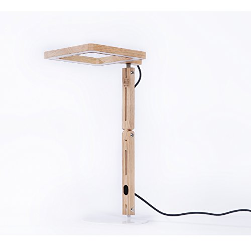 JoyRay Touch Sensitive LED Desk Lamp of Red Oak Wood with Memory Brightness for Art Deco in Bedroom, Office and Studio by Granvela