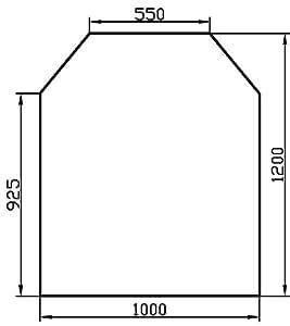 Glaspartner - Placa de protección de suelo para estufas de leña (vidrio templado de 6 mm, 1000 x 1200 mm, bordes pulidos), diseño hexagonal, color claro