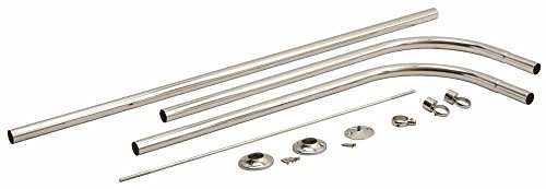 PREMIER 2091004 U Type Shower Rod With Ceiling Support (Type Shower Rod)