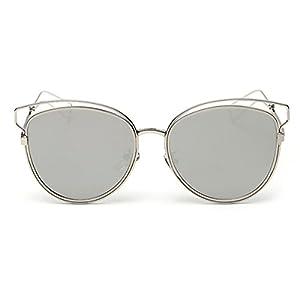 Heartisan Personlized Hollow Metal Cat Eye Frame Full Rim Sunglasses for Womens C7