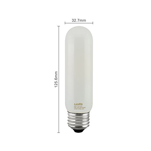 25w T10 Incandescent Bulb - Promotion 2PK LED T10 3.5W, 25W/120V incandescent equivalent, Completely traditional T10 shape Glass bulbs(3.5Wx2PCs)