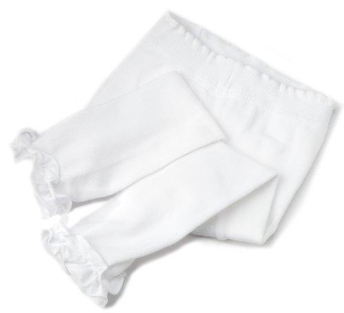 Jefferies Socks Baby-Girls Newborn Pima Cotton Rhumba Footless Tights, White, 6-18 mos Infant Footless Tights