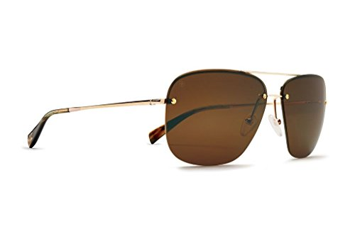Kaenon Coronado Metal Sunglasses (Gold/Tortoise, Brown 12 - Polarized)