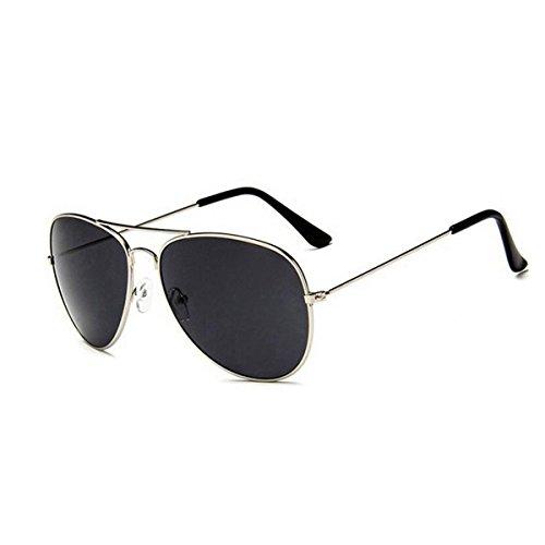 Argenté lunettes de rue lunettes lentille nuit de les en Unisexe pour Tukistore miroir de cadre plate mode conduite Gris soleil de femmes soleil lunettes hommes UV400 métal aviateur protection classique wPCwxq0Y