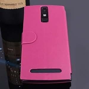 PU del tirón de cuero protectora para Elephone G6 (Color: rosa roja )