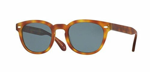 Oliver Peoples Sheldrake Sun- Matte LBR / Indigo Photo- 5036 1483R8 - Sunglasses Vintage Oliver Peoples