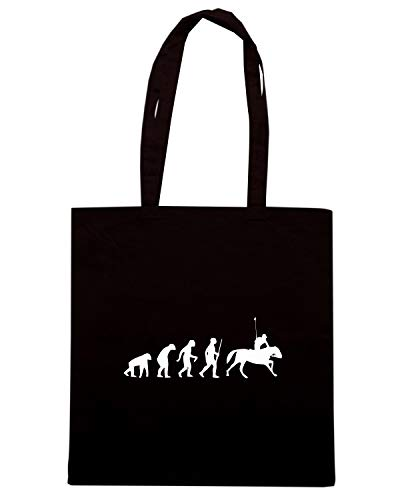 Speed Shirt Borsa Shopper Nera EVO0038 HORSE RACING EVOLUTION HUMOR